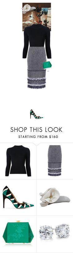 """""""Untitled #3951"""" by wizmurphy ❤ liked on Polyvore featuring Hush, Alexander McQueen, Roland Mouret, Sergio Rossi, Anne-Sophie Coulot, Charlotte Olympia, Blue Nile and pencilskirt"""