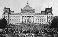 Mass demonstration in front of the Reichstag against the Treaty of Versailles. This Day in History: Jun 28, 1919: Treaty of Versailles Ends World War I