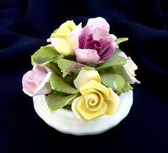 COALPORT Decorative Bone China Flowers in a Pot