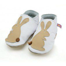 Rabbit White Soft Leather Baby Shoes Made and supplied by Star Child Shoes in #Leicestershire - £18.00