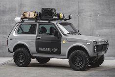 Vagabund Moto Releases Workshop's First-Ever A custom Lada Niva from Russia. Custom Trucks, 4x4 Trucks, Custom Cars, Ford Trucks, Custom Motorcycles, Cars And Motorcycles, Vintage Motorcycles, Offroader, Bmw S