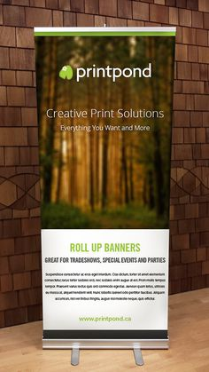 Trade Show Banners by PrintPond Marketing Materials, Letterhead, Printed Materials, Trade Show, Work On Yourself, Banners, Business, Cards, Design