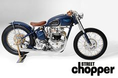 While by far Harley motorcycles are the most popular to customize, there are few souls who choose to. - Words and Photos: John Zamora Triumph Chopper, Triumph Bikes, Bobber Chopper, Triumph Bonneville, Triumph Motorcycles, Vintage Motorcycles, Custom Motorcycles, Custom Bobber, Triumph Thunderbird