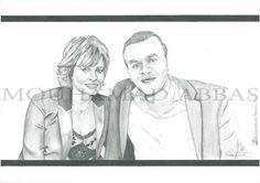 Hania Adra and her husband #portraits #drowing #art #pencil #arts