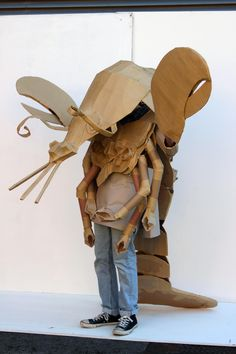 'Lobster' Strode College / UK - Cardboard Catwalk, 48hr student induction project. 2013