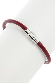 Smooth Leather Single Strand Wristband