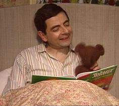Storytime with Mr. Bean and Teddy.