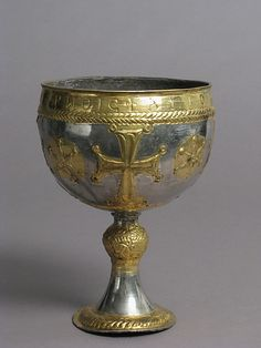 The Attarouthi Treasure - Chalice  7th century,Byzantine  Made in Attarouthi,Syria  silver and gilt
