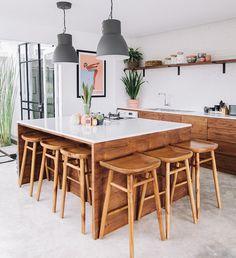 Modern Kitchen Interior 13 Incredibly Cool Kitchens (For Every Style) Interior Design Kitchen, Kitchen Decor, Kitchen Ideas, Kitchen Units, Wooden Kitchen, Big Kitchen, Awesome Kitchen, Kitchen Cabinetry, Interior Modern