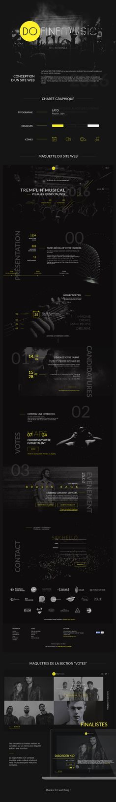 DO FINE MUSIC - Website Festival - By Flora Michalon on Behance