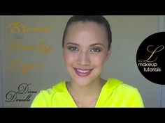 This makeup tutorial is for an easy on the eyes brown/gold smoky eyes look. Adding a gorgeous purple lipstick makes the look complete. Gold Smoky Eye, Purple Lipstick, Makeup Tutorials, Diana, Make Up, Eyes, Brown, Products, Violet Lipstick