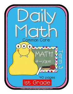 Term 3 common core first grade practice!