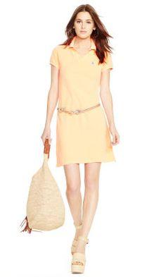 Mesh Polo Mini Shirtdress - Polo Ralph Lauren Short Dresses - RalphLauren .com