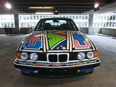 'BMW art car 525i' by esther mahlangu, 1991.
