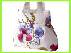 Tasche / Shopper im floralem Design.   Bei dieser Tasche / Shopper ist die Hintergrund-Farbe ein helles Creme auf welcher wunderschöne Blumen in Fu...