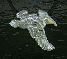 Steven Douglas - Pelican Necklace SGN672   By The Bay Gallery   Morro Bay California