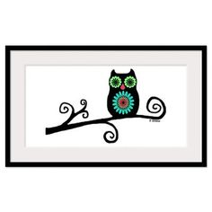 Retro Owl Framed Print