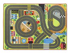 LIGHTNING DEAL ALERT! Jumbo Roadway Activity Rug With 4 Wooden Traffic Signs (79 x 58 inches) $48.20 via @hiphmschoolmoms