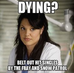 "The musical trainwreck of an episode. | 19 Things Only ""Grey's Anatomy"" Fans Will Find Funny"
