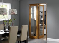 The Inspire oak Internal bifold doors and room dividers fold back against your wall to give you incredible flexible living, whether you want one room or two. Room Divider Doors, Room Dividers, Conservatory Extension, Door Sets, Internal Doors, Home Living Room, Home Renovation, Home Improvement, Lounge