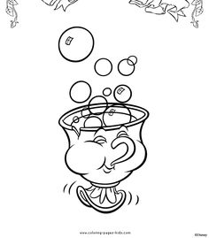 Coloring page for kids table