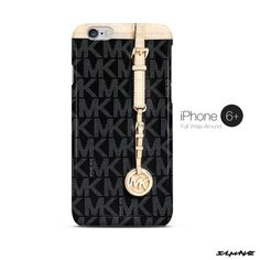 Michael Kors MK Bag Black Gold iPhone 6 Plus Case