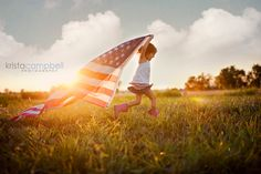 The innocence of a child and the love for America...this is beautiful.