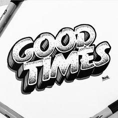 """723 likerklikk, 4 kommentarer – Lettering Daily (@lettering_daily) på Instagram: """"GOOD TIMES by @rigourstudio Check our website for more at www.lettering-daily.com #Lettering…"""""""
