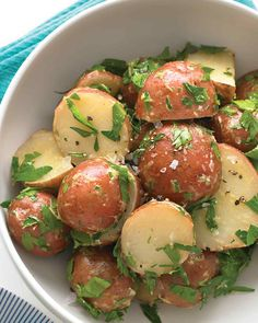 Dijon Potato Salad | Martha Stewart Living - This mustardy potato salad is great for parties.