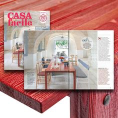 "More than proud to be featured on Casa Facile's cover story. The main article talks about Raul Bova's Country House in Puglia, a typical ""Masseria"", that became the venue of a ""cultural hub"". For the interior design has been chosen the red table OFFICINA by Mogg / Design by Marcantonio  http://www.mogg.it/Prodotti/Table/OFFICINA/  #mogg #moggdesign #officina #marcantonio #marcantonioraimondimalerba #table #interiordesign #italianfurniture #interior #design #italian #furniture #magazine…"