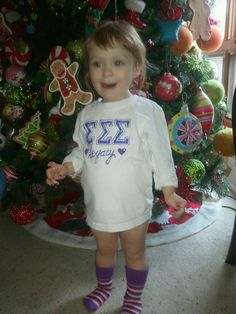 Tri Sigma - Sigma Sigma Sigma Sorority Legacy tee shirt I screen printed for my daughter