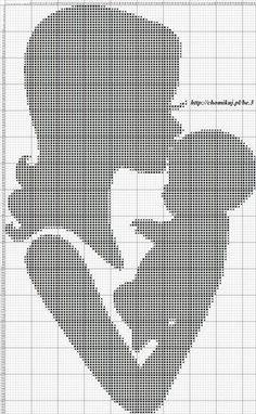 ru & Photo # 49 - Mother and Child - Olgakam Cross Stitch Baby, Cross Stitch Kits, Cross Stitch Charts, Cross Stitch Designs, Baby Cross Stitch Patterns, Cross Stitching, Cross Stitch Embroidery, Embroidery Patterns, Crochet Chart