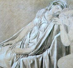 Study for the Oath of the Horatii: Camilla, black chalk and white highlights, × 35 cm Jacque Louis David, White Highlights, Drawing Projects, Camilla, Study, Black, Drawing Designs, Studio, Black People