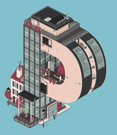 Architectural typography Gifs by Florian Schommer and Deep Blue Networks