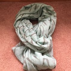 I mustache you a question scarf. This mint colored scarf has mustache prints all over it. Wore it once. Forever 21 Accessories Scarves & Wraps