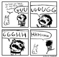 sarahseeandersen:  My feelings towards twerking summed up in one cartoon