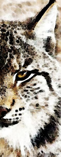 Cat Art - Lynx 1 Painting by Sharon Cummings - Cat Art - Lynx 1 Fine Art Prints and Posters for Sale