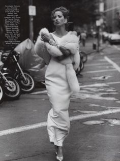 Christy Turlington in La Dolce Vita for Vogue, December 1989. Shot by Steven Meisel. Styled by Carlyne Cerf de Dudzeele -repinned by Los Angeles County, CA portrait photographer http://LinneaLenkus.com  #portraiture