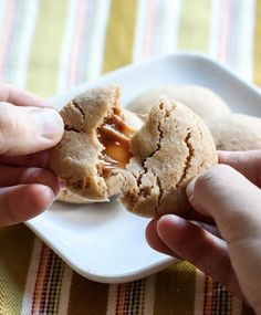 Caramel Stuffed Apple Cider Cookies! One of my favorites!!