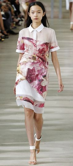 Modern floral print dress at Preen Spring 2013 Ready-to-Wear Collection. #dress #floral