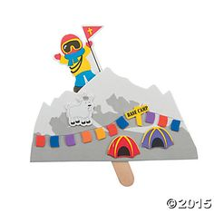 Mountain Climber Pop-Up Craft Kit, Novelty Crafts, Crafts for Kids, Craft & Hobby Supplies - Oriental Trading