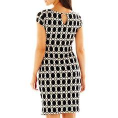 Back of Liz Claiborne Cap-Sleeve Twisted Dress