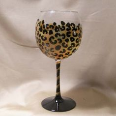 ByBecca Store - Leopard Spot hand painted wine or martini glass, $32.95 (http://www.bybecca.com/leopard-spot-hand-painted-wine-or-martini-glass/)