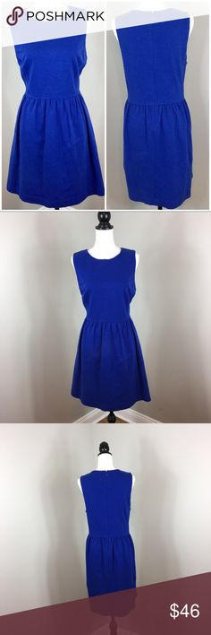 J.Crew Factory Daybreak Dress in Blue J.Crew Daybreak Dress in blue. Size extra large. Approximate measurements flat laid are 36' long and 20' bust. Good used condition with basic wash wear. Has pocket! Stock photo for fit not color. ❌I do not Trade 🙅🏻 Or model💲 Posh Transactions ONLY J.Crew Factory Dresses Midi