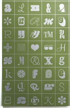House Industries, Photo Lettering, Wrapping Paper