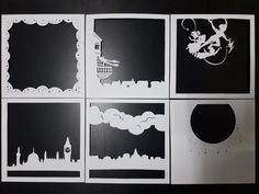 Peter Pan 2 9 x 9 po papier coupe lumière boîte Shadow Box Kunst, Shadow Box Art, Shadow Box Frames, 3d Paper Art, Diy Paper, Paper Crafts, Foam Crafts, Origami Templates, Origami Box