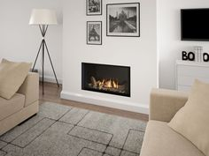 Wide Selection of Gas Fires - Stovax and Gazco, Plus Many Fireplaces Uk, Custom Fireplace Mantels, Gas Fireplace Logs, Home Fireplace, Fireplace Inserts, Living Room With Fireplace, Fireplace Design, New Living Room, Fireplace Ideas