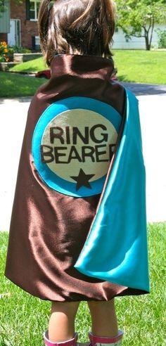 Ring Bearer Cape-ring, wedding, bearer, super, hero, cape