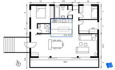 How to read floor plans - the kitchen layout should be indicated on the floor plan. Click through to www.houseplanshelper.com for more on how to read floor plans, house plans and for more on home design. Bathroom Layout, Kitchen Layout, Blueprint Symbols, Floor Plan Symbols, Free Floor Plans, Space Words, Comfy Sofa, Building A New Home, Internal Doors