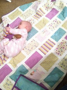 Amy Smart's Brickyard pattern made up in Riley Blake's Dress Up Days - complete with matching doll!